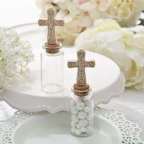 Plain Candy Jar With Ivory Cross Top